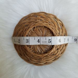 Vintage Accents - Small Vintage Bohemian Straw Basket